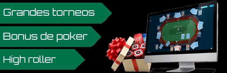poker online grandes torneos bonus de poker high roller