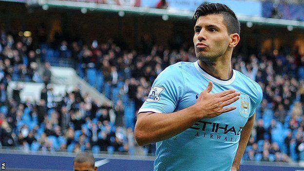 aguero_11 Manchester City vs Leiceste