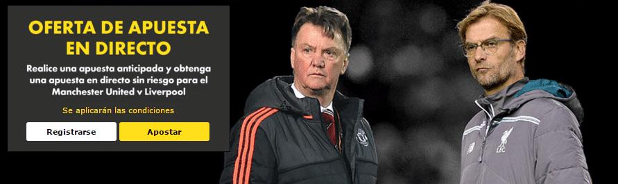 Manchester United - Liverpool Apuesta sin riesgo europa league