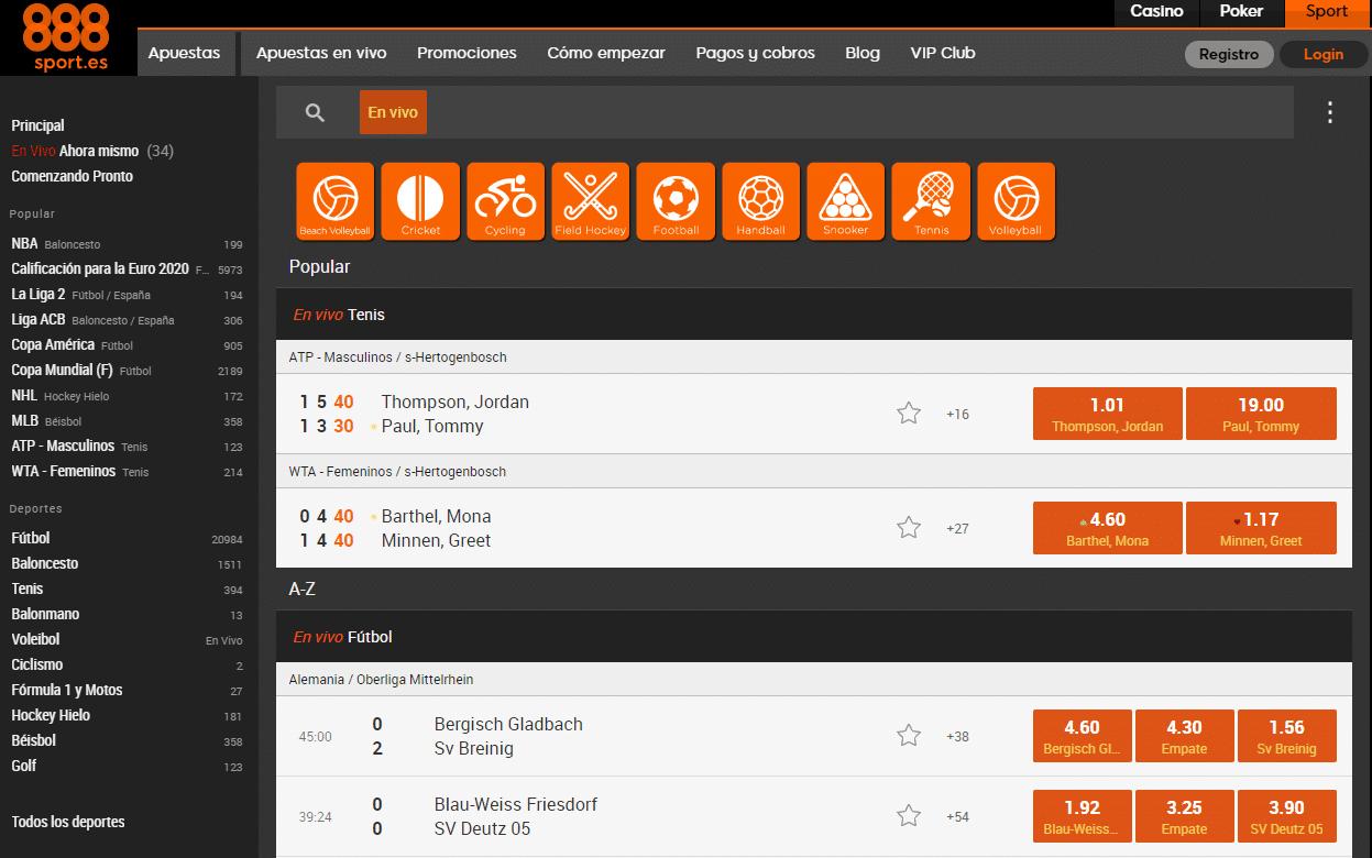 Portal Web 888sport