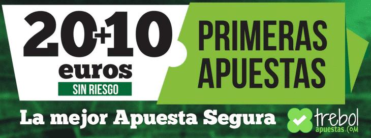 bono Paf España La mejor apuesta segura 30 euros sin riesgo Trebol-Apuestas