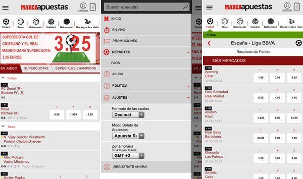 diseño app Marca Apuestas