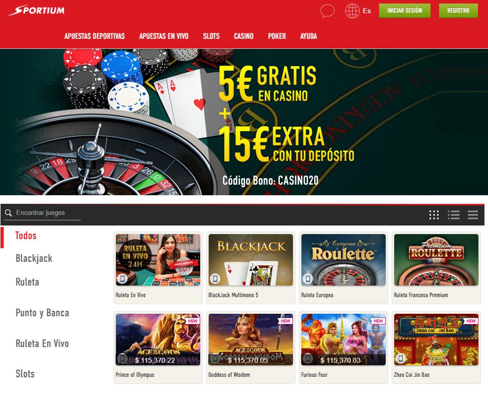 sportium casino online