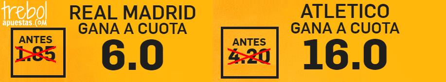 Supercuotas Real Madrid - Atlético de Madrid Betfair