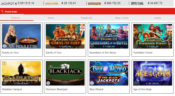 slots y tragaperras marca casino online