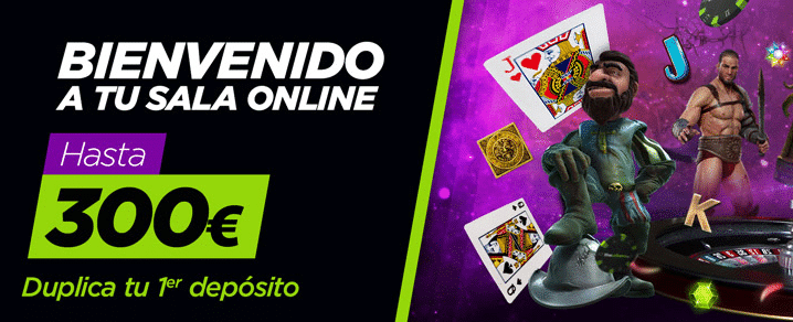bono de bienvenida casino Vivelasuerte 300 euros con tu primer depósito
