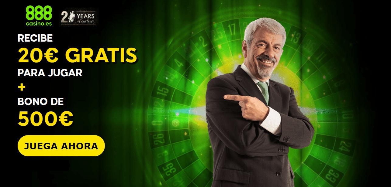 888 casino 500 euros bono de bienvenida 20 euros gratis sin depósito