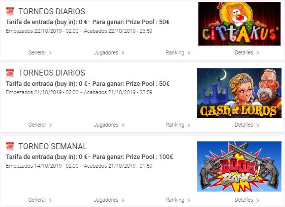 Torneos de slots Circus