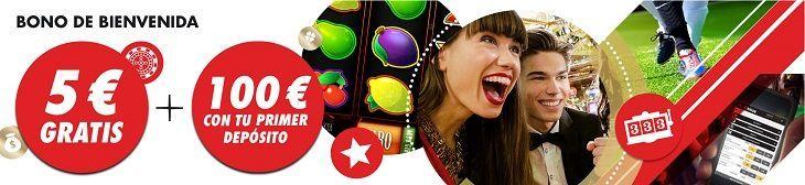 bono de bienvenida Circus Casino 100 euros más 5 euros gratis