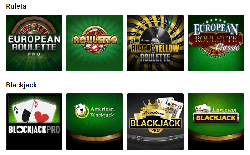 Ruleta online y Blackjack Bwin