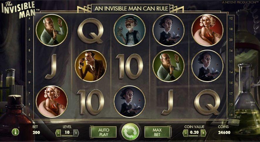 The Invisible Man - Las 5 Mejores Tragaperras Online en España