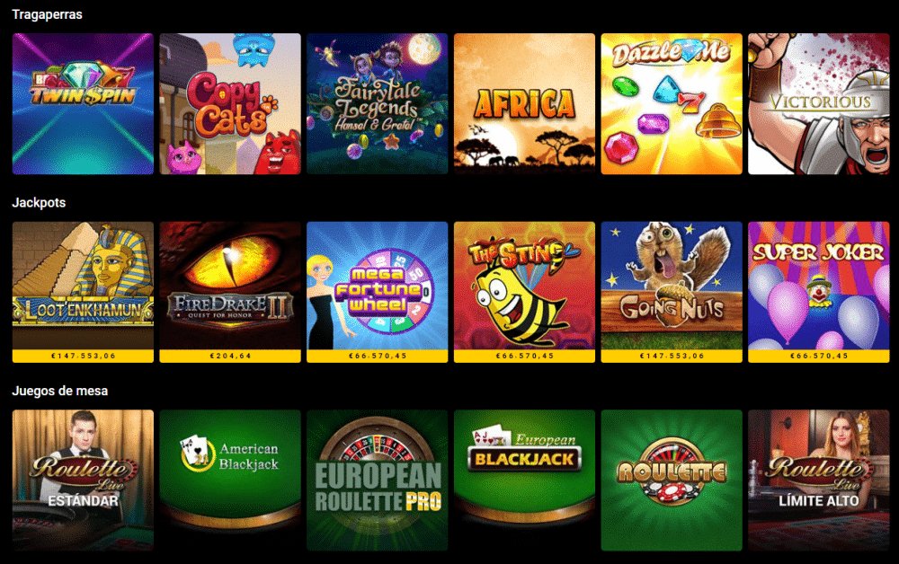 tragaperras jackpots y juegos Bwin Casino