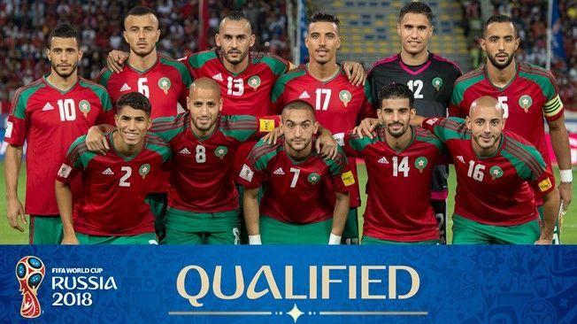 selección de Marruecos Mudial de Rusia 2018