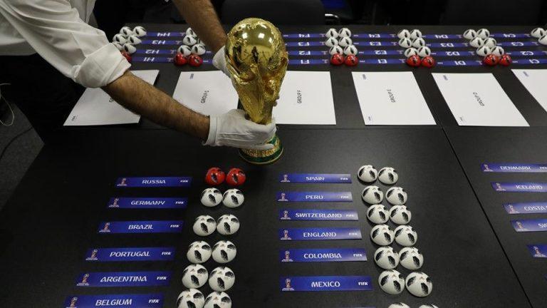 Sorteo de grupos para el próximo Mundial de Rusia 2018