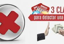 3 claves para detectar una estafa en bingos online