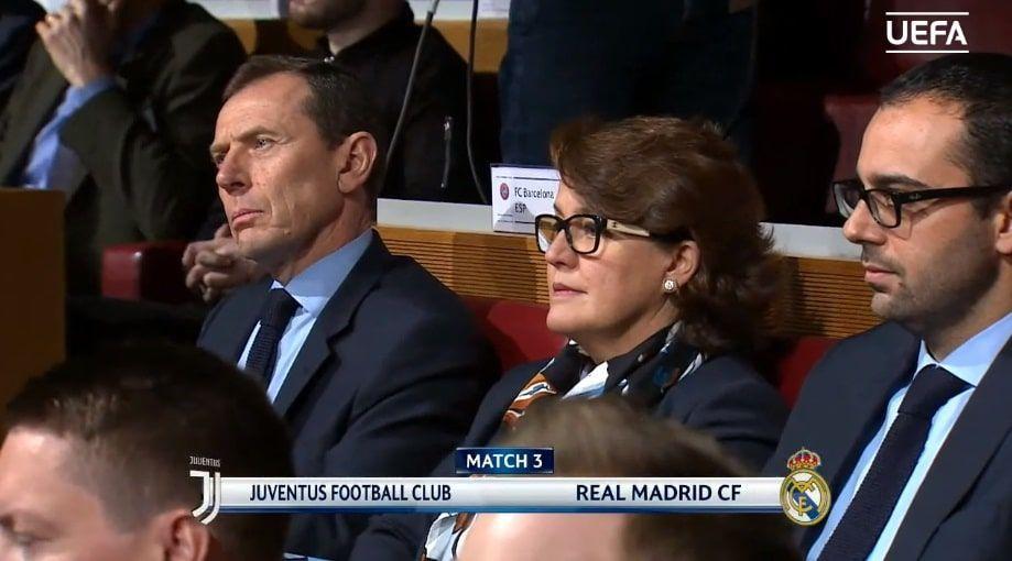 Butragueño sorteo de cuartos de Champions League Juventus - Real Madrid