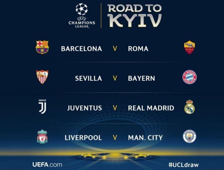 Sorteo de cuartos de final de la Champions League y de la Europa League