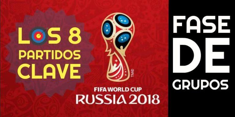 Partidos clave de la fase de grupos del Mundial de Rusia 2018