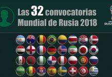 listas de convocados y convocatorias Mundial de Rusia 2018