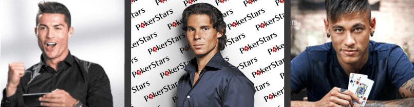 BetStars y Pokerstars cuentan con grandes estrellas como Ronaldo, Neymar y Rafa Nadal