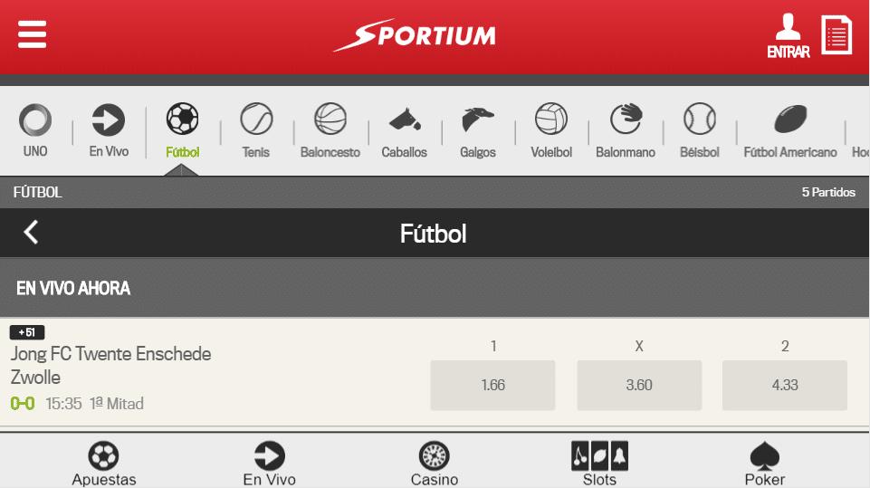 web sportium