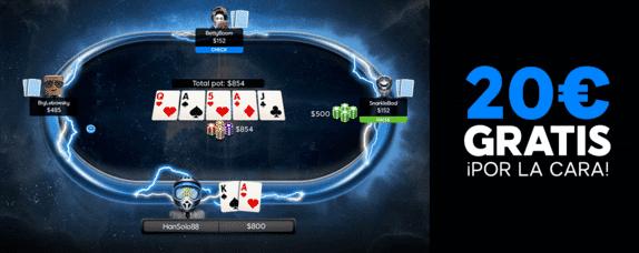 Bono gratis 888 poker 20 euros sin deposito