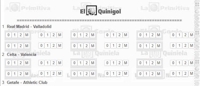Quinigol vs Pro6 Sportium
