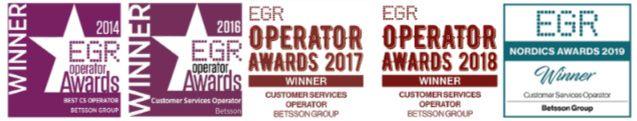 Premios en calidad de atención al cliente en Betsson