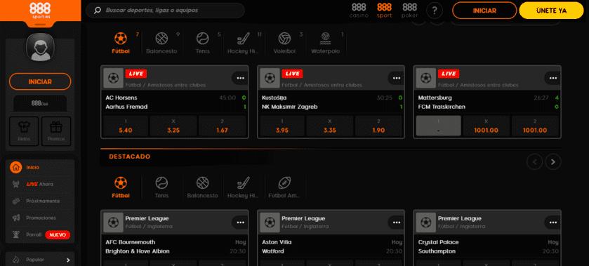 cuotas 888sport apuestas en directo