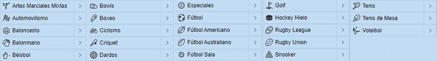 mercados disponibles para apuestas deportivas