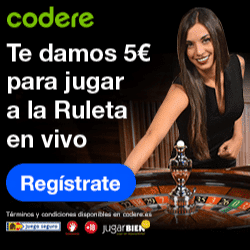 5 euros gratis para ruleta codere casino
