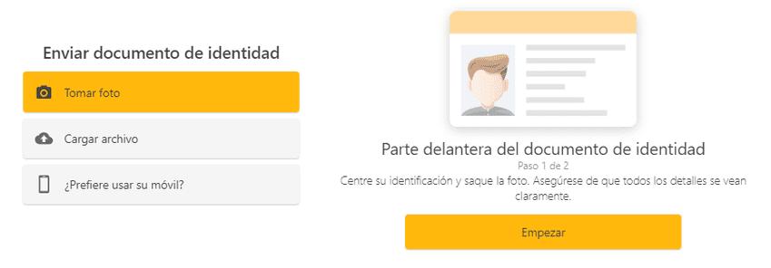 proceso de verificacion de identidad