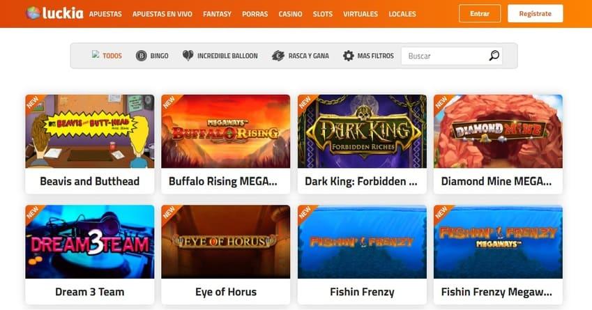 versión web de Luckia casino - Juegos y slots