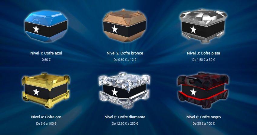 Stars Rewards - Cofres y recompensas