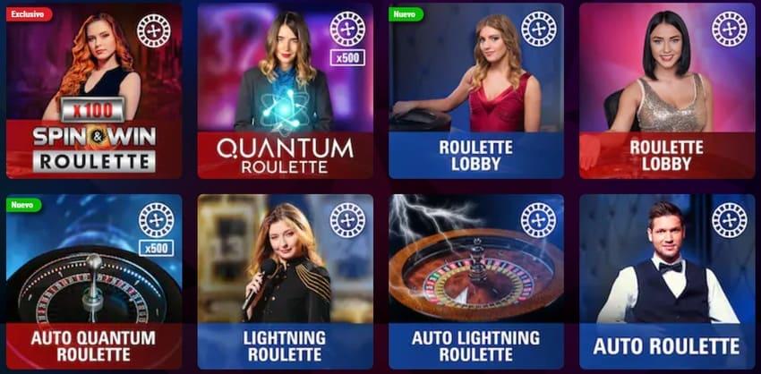 ruletas en vivo del casino