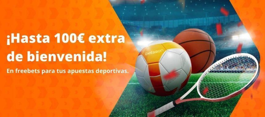 Bono Betsson apuestas deportivas online Hasta 100€ de bienvenida