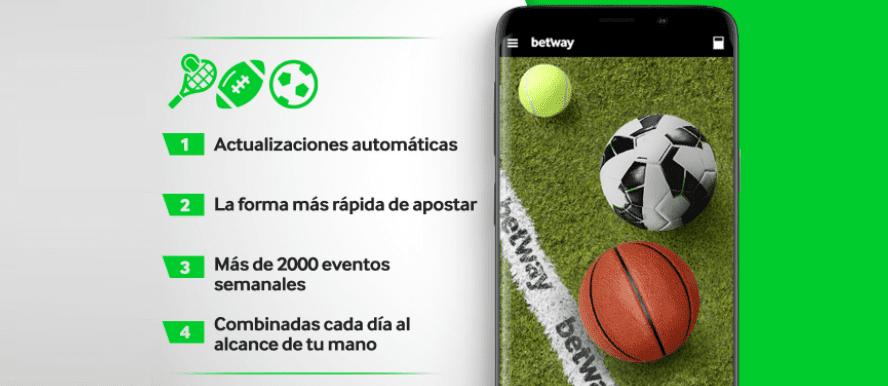 app Betway apuestas