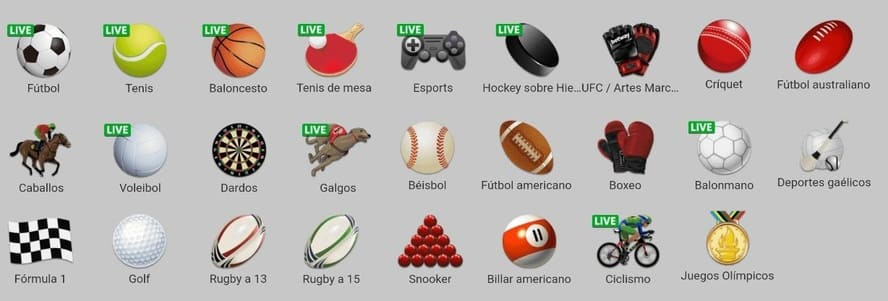 deportes Betway