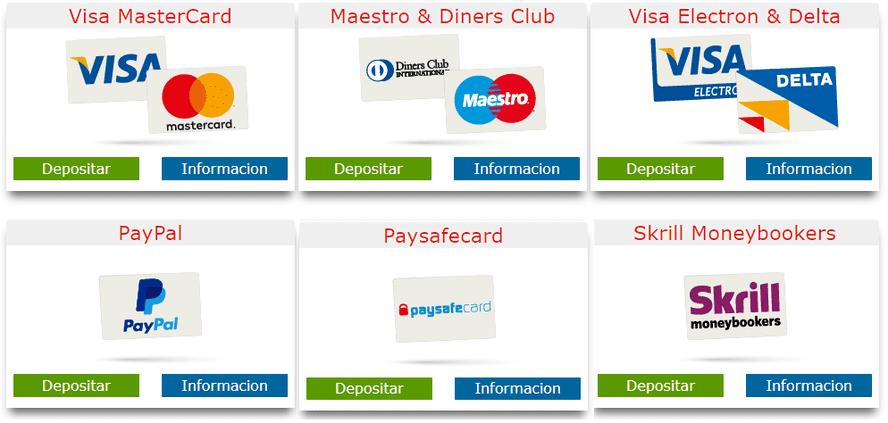 metodos de pago - depositos y retiros marca casino