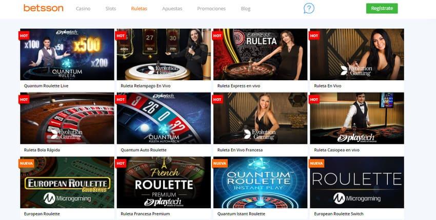 portal casino Betsson ruletas online