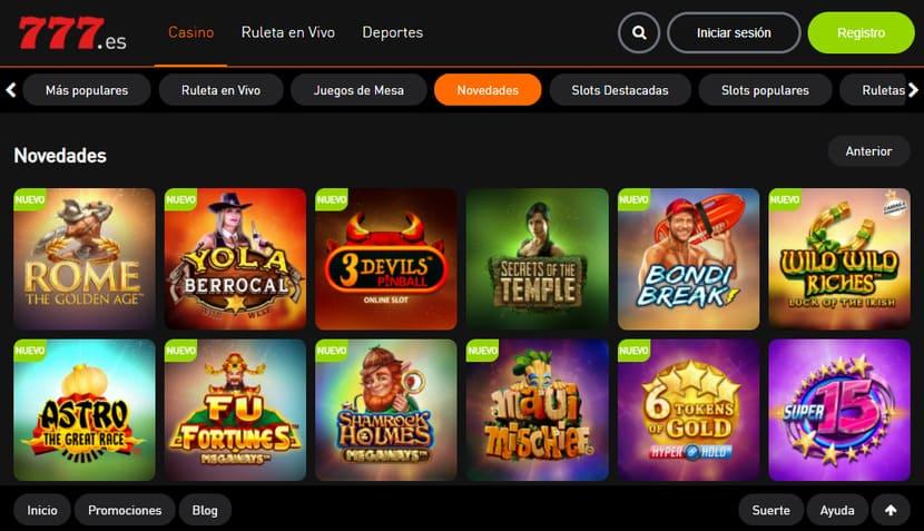 portal web casino777 online