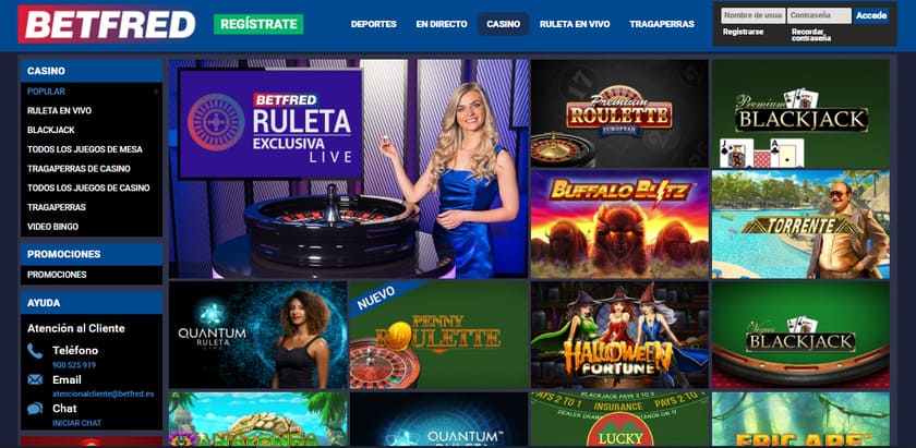 portal web casino Betfred