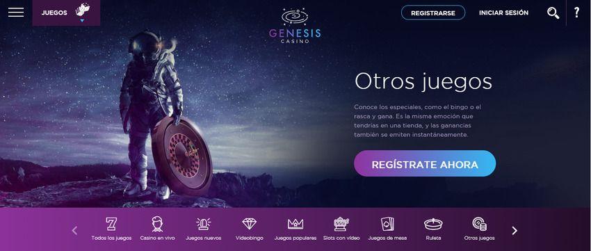 portal web casino Genesis online