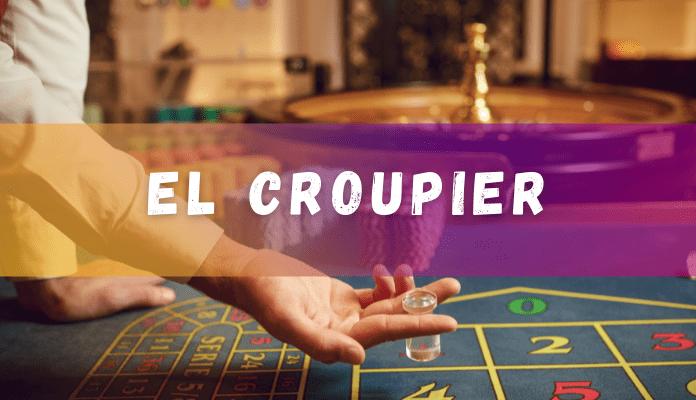el croupier en la ruleta de casinos