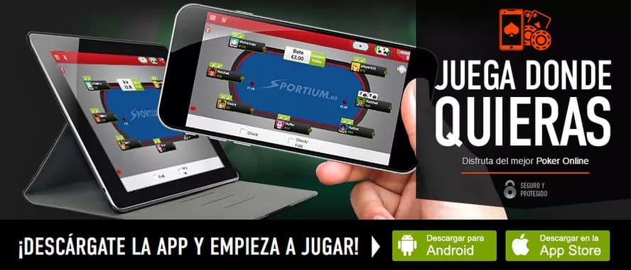 descarga app sportium poker