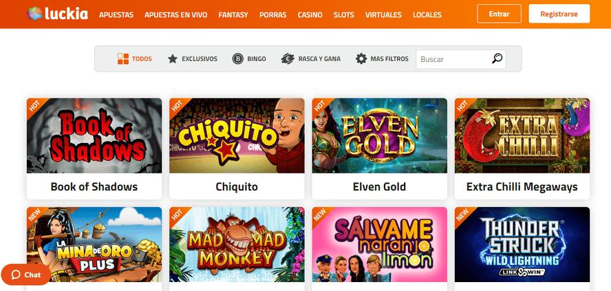 juegos de tragaperras y slots luckia casino online