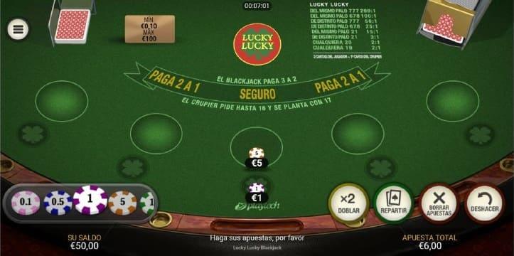 mesa blackjack lucky lucky