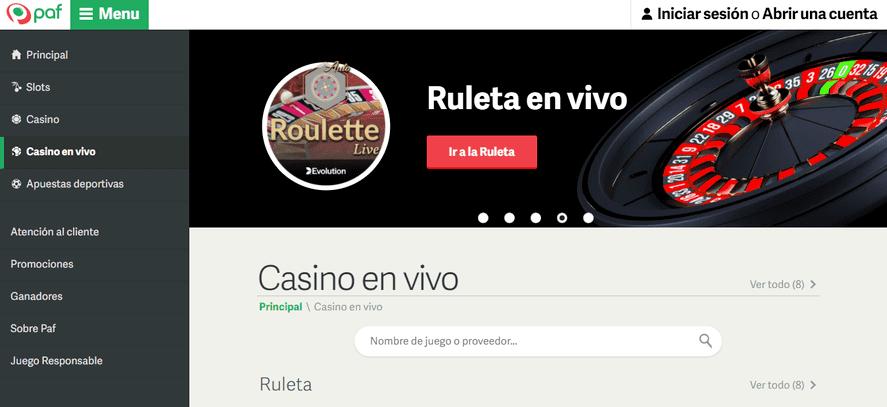 portal de casino Paf
