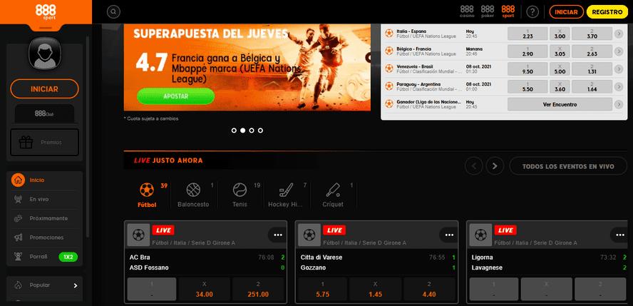 portal web 888sport casa de apuestas online