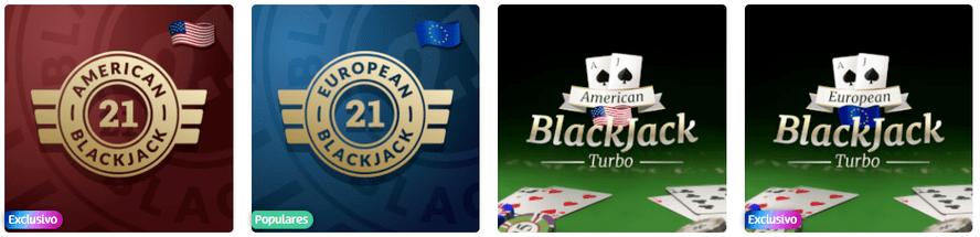 mesas de blackjack PlayUZU